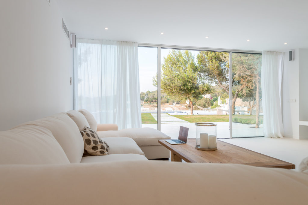Spacious Room Ibiza Villa Interior Stylish Living