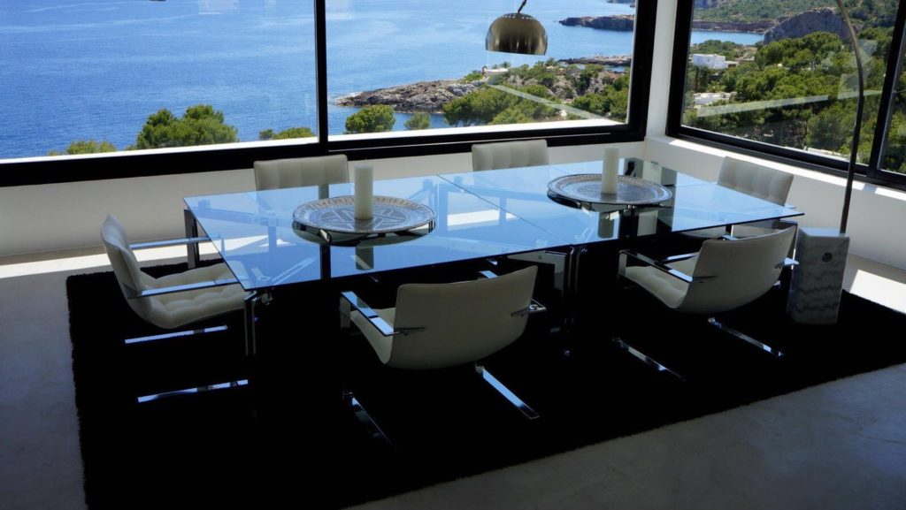 Spectacular View Amazing Villa Dining Room Ibiza