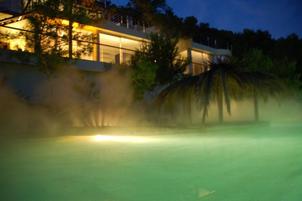 Steam Pool At Night Ibiza Villa Luxury Vip Exclusive