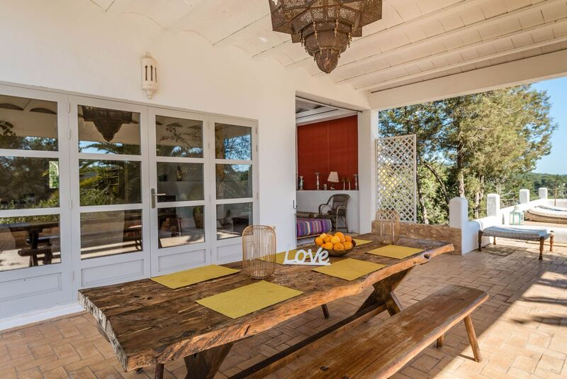 Stunning Finca Amazing Style Villa Ibiza Dining Room Exterior