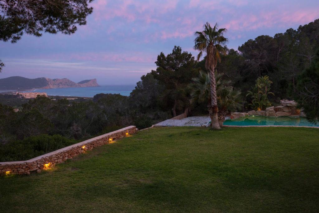 Stunning Garden Sunset Evening Garden Palm Trees Gorgeous Ibiza Villa
