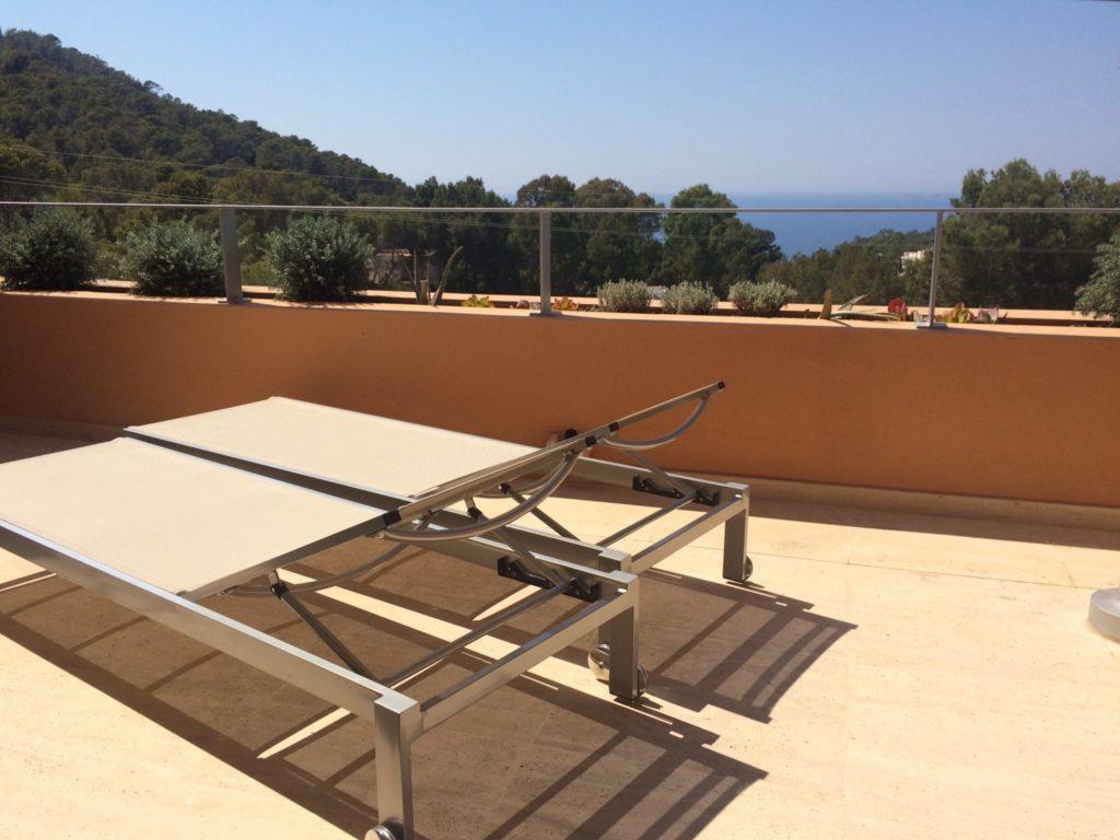 Sun Bed View Sea Villa Ibiza