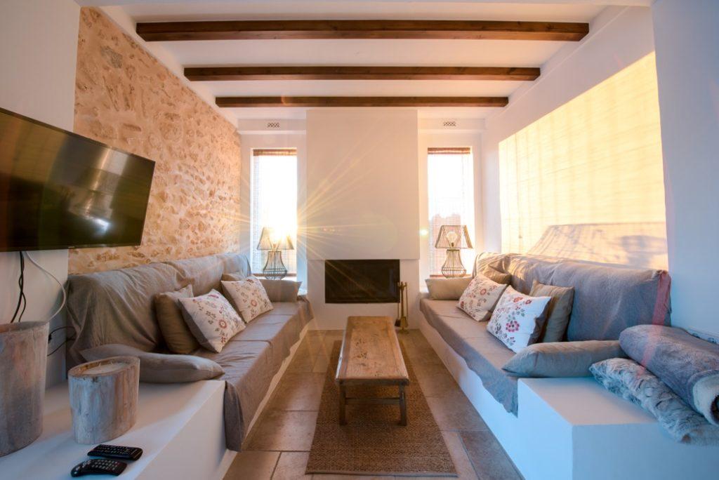 Sunning Outdoor Siting Area Cushions Comfort Beams Ibiza Villa
