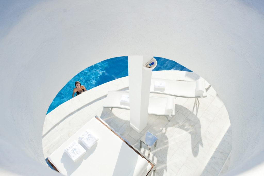Super Luxury Villa Shot Through Circle Ibiza