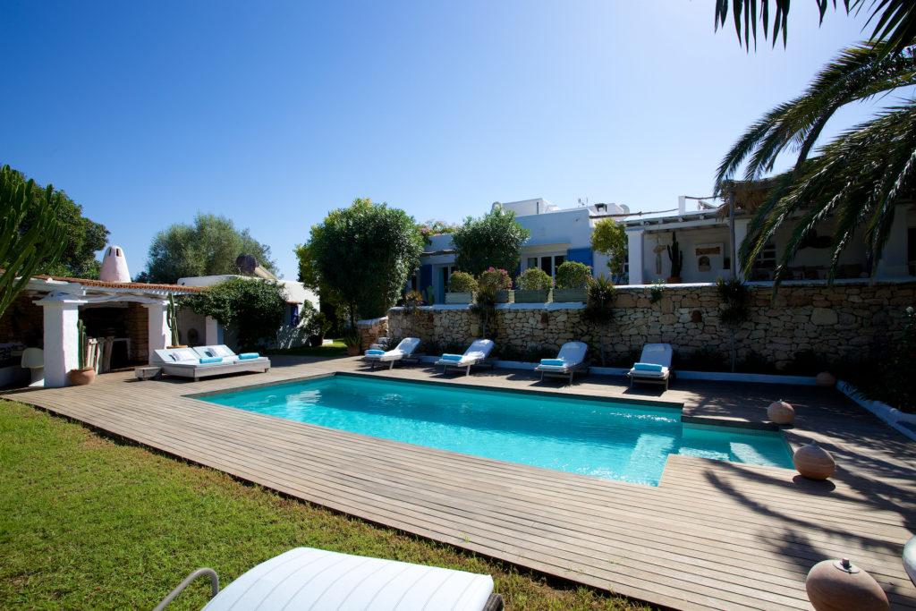 Swimming Forest Nature Pool Ibiza Villa