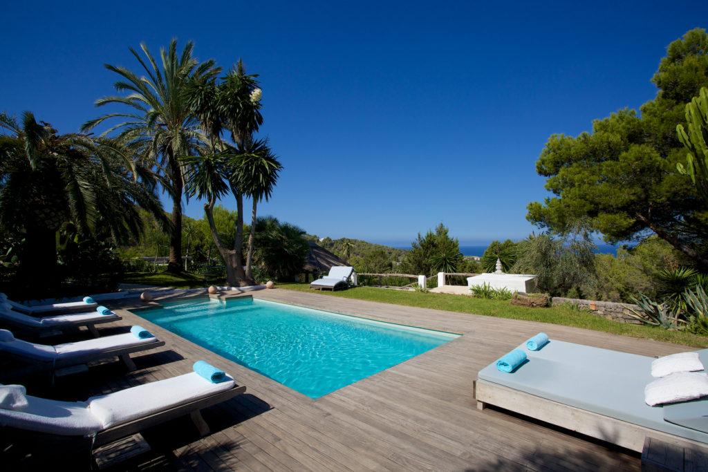 Swimming Ibiza Villa Nature Pool Forest