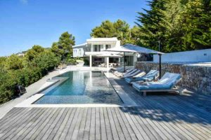 Swimming Pool Ibiza Villa Chic Blue Contemporary Gorgeous