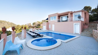 Swimming Pool Ibiza Villa Poolside Relax