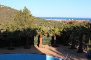 Swimming Pool Ibiza Villa Sea View Trees