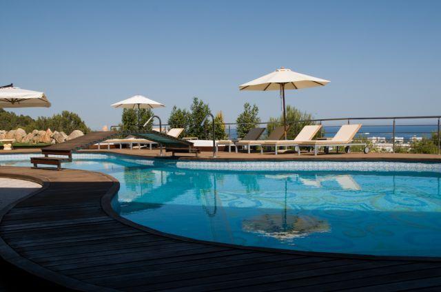 Swimming Pool Sunlounger Shade Ibiza Villa