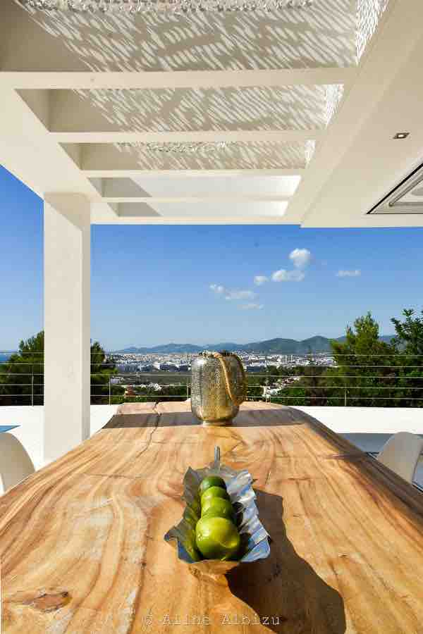 Table Dining Area Outdoor Ibiza Villa Mediterranean Sea View