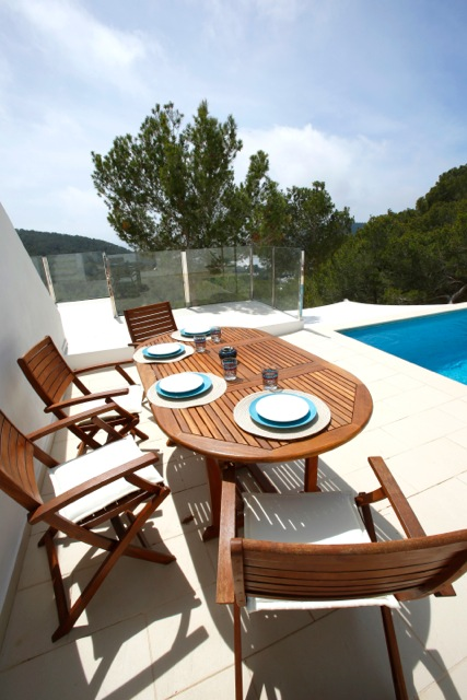 Table Dining Outdoor Plates Pool Poolside