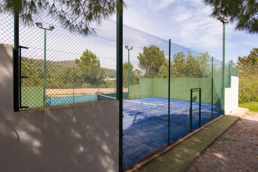 Tennis Court Private Ibiza Villa Garden