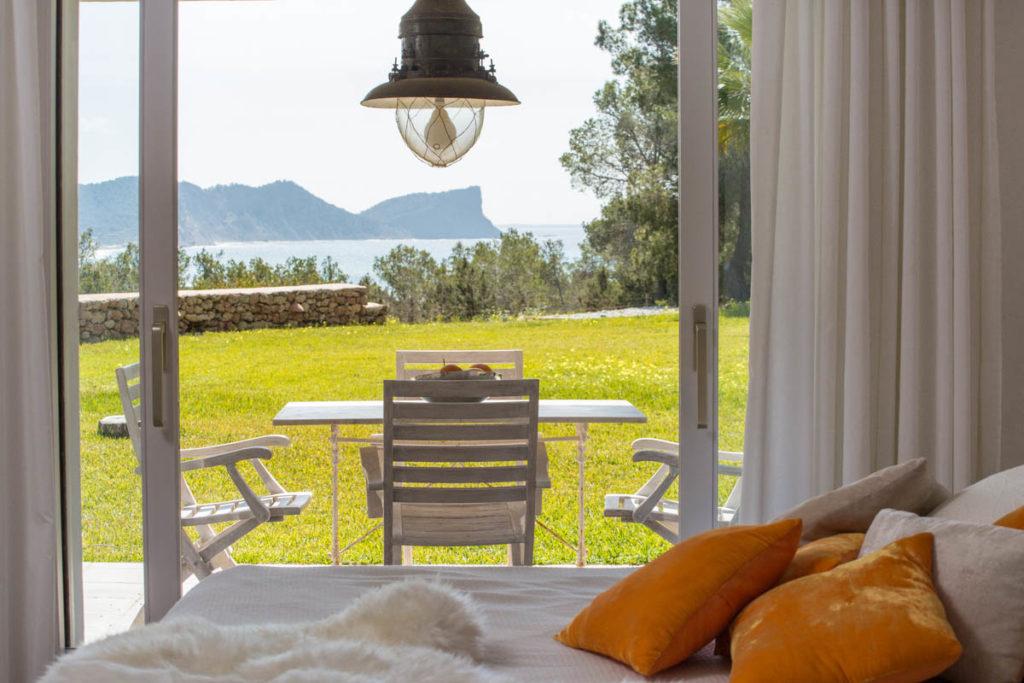 Terrace Ibiza Villa Garden Table Breakfast Sea View