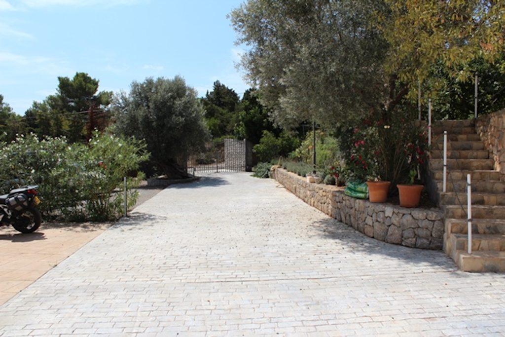 Trees Driveway Car Park Ibiza Villa