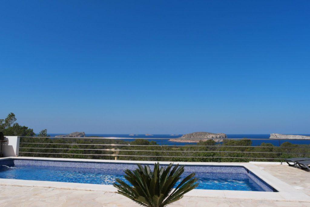 Trees Pool Ibiza Villa Sea View Plant