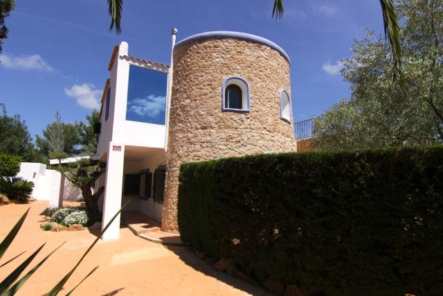 Turret Villa Stone Traditional White Ibiza Style