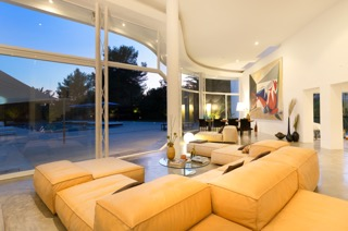 Tv Room With View Ibiza Villa Yellow Sofa Stunning Contemporary