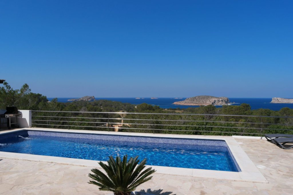 View Plant Trees Pool Ibiza Villa Sea