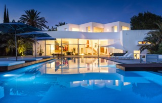 Villa By Night Ibiza White Cube Modern