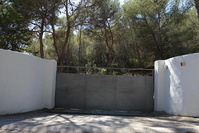 Villa Door Outside Ibiza