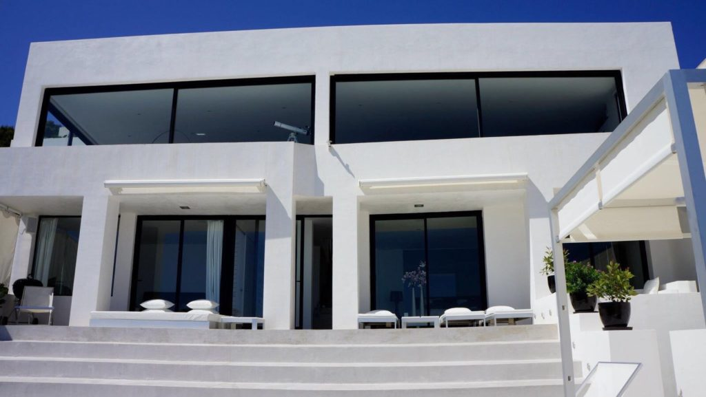 Villa Front View Sea Ibiza