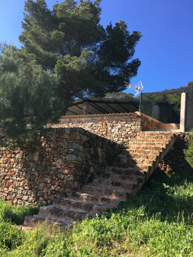 Villa Garden Stone Steps Ibiza
