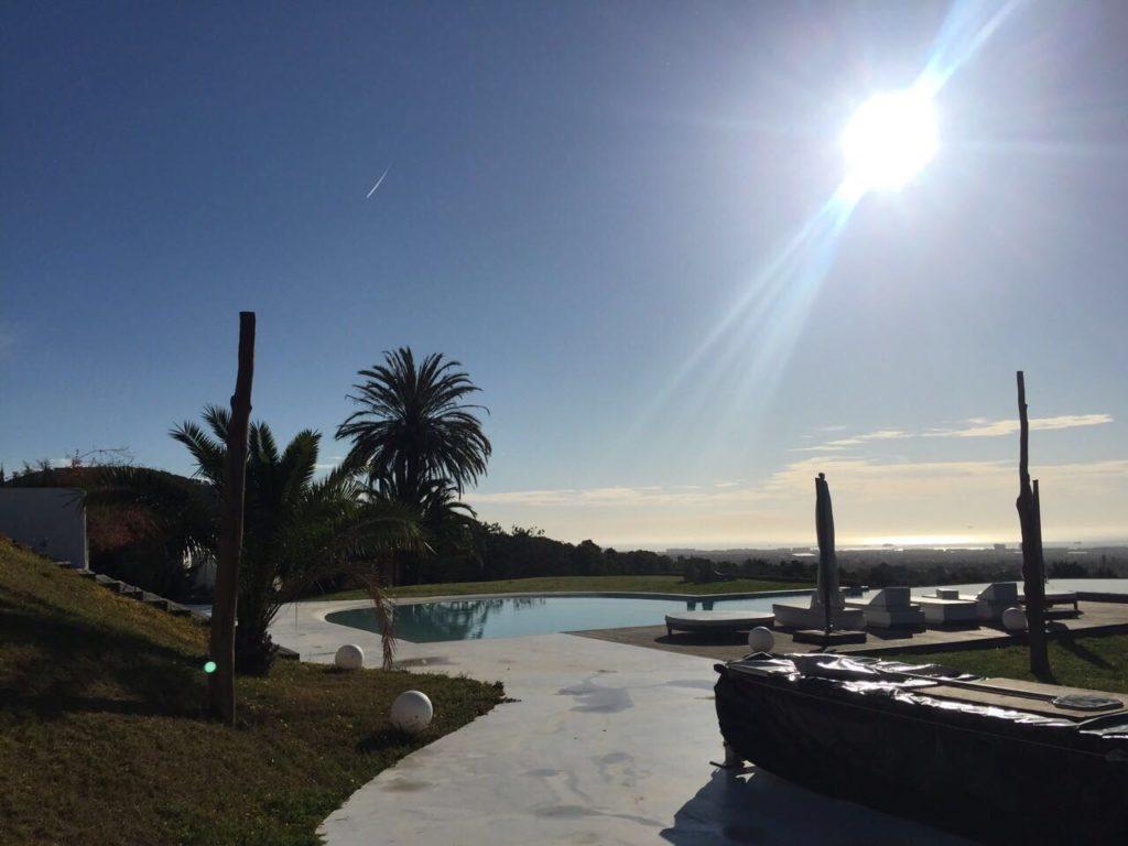 Villa Ibiza Driveway Sun