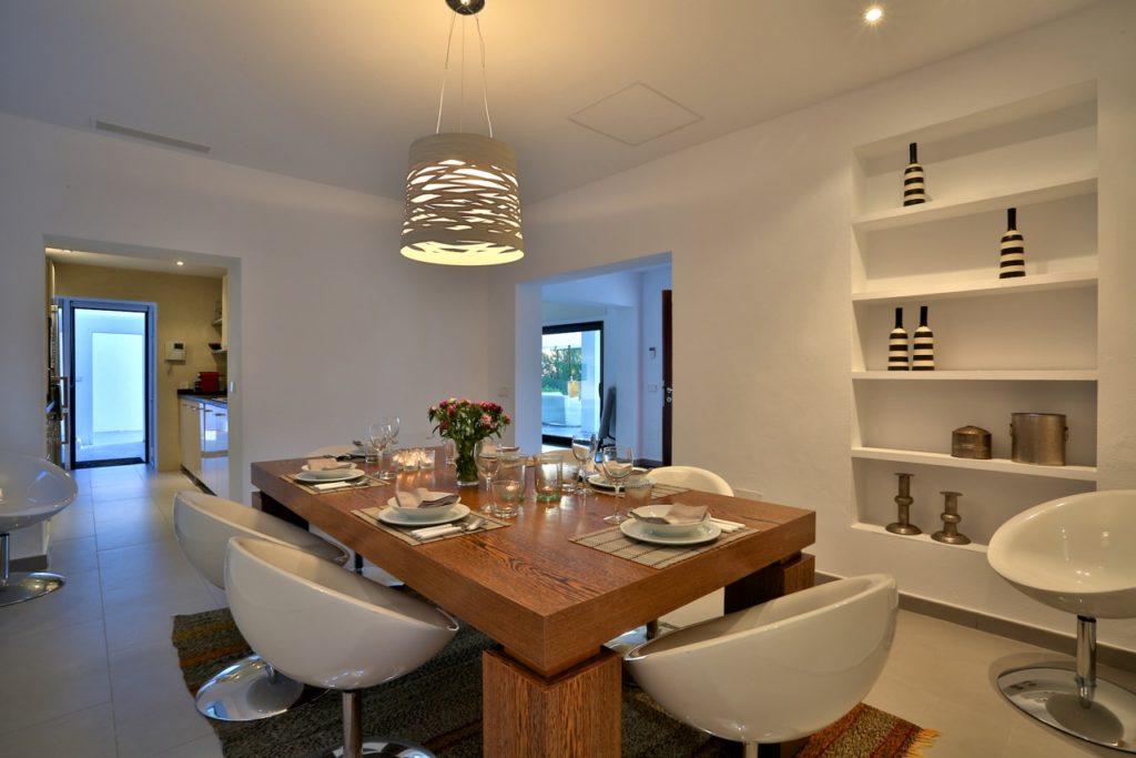 Villa Ibiza Pool Beautiful Modern Interior Living Room White