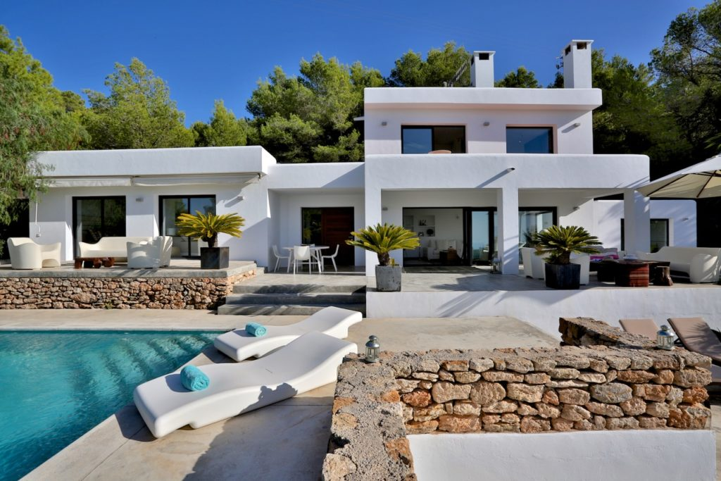 Villa Ibiza White Cube Modern Pool