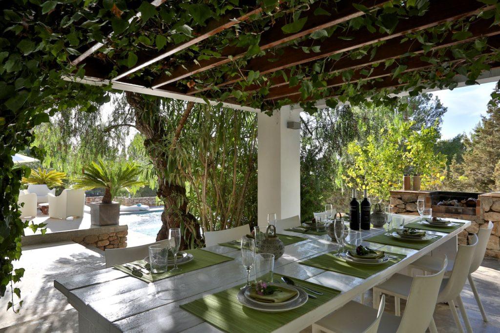 Villa Pool Gardens Barbecue Ibiza