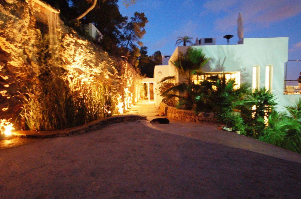 Villa Roca Entrance Night Ibiza Luxury Exclusive Vip