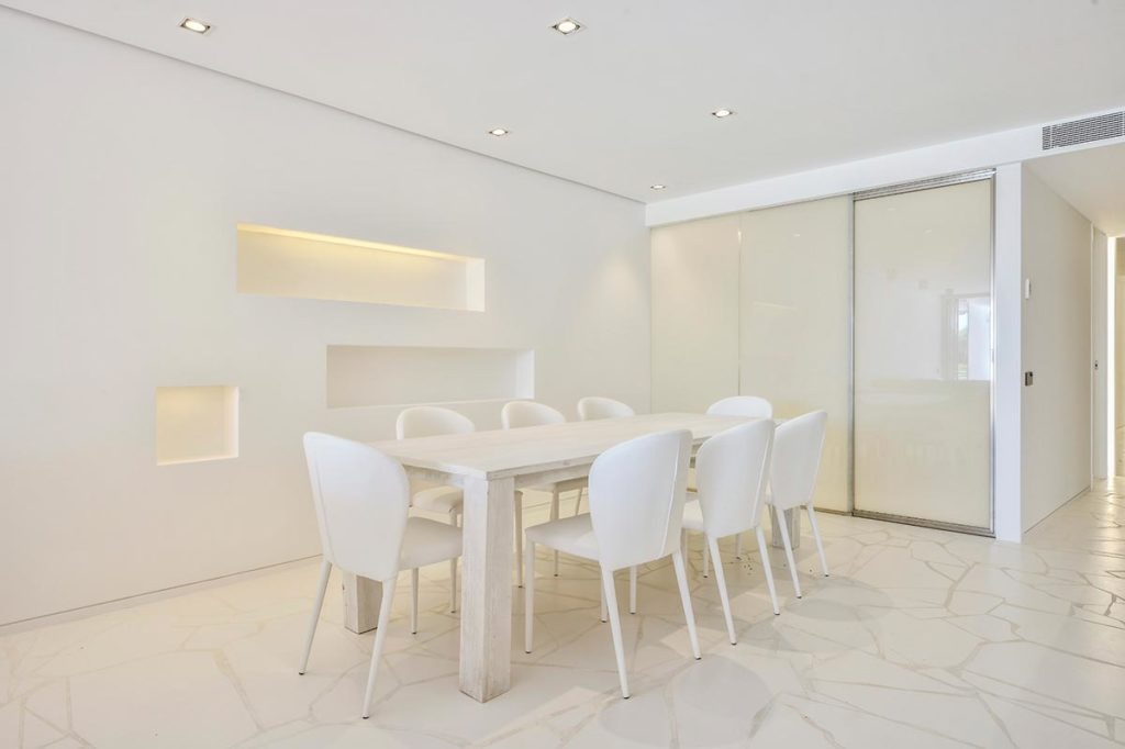 Villa White Dining Room Modern Ibiza