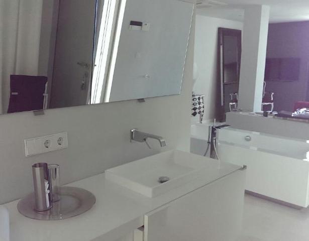 Wall To Wall Window Chic White Stunning Ibiza Villa Bathroom