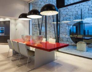 Wall To Wall Window Chic White Stunning Ibiza Villa Dining Room