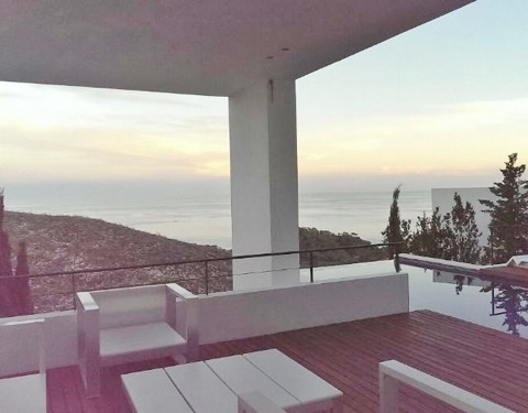 Wall To Wall Window Chic White Stunning Ibiza Villa Exterior Terrace