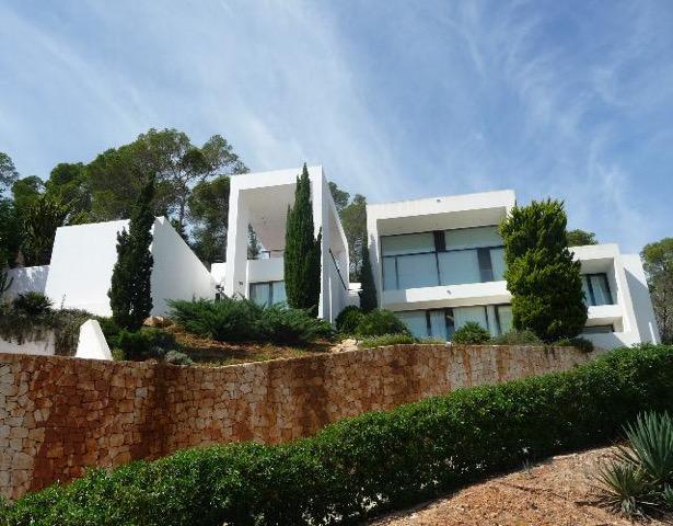 Wall To Wall Window Chic White Stunning Ibiza Villa Garden