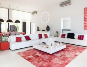 Wall To Wall Window Chic White Stunning Ibiza Villa Living Room