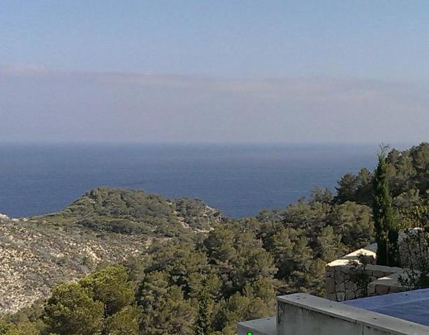 Wall To Wall Window Chic White Stunning Ibiza Villa Sea View