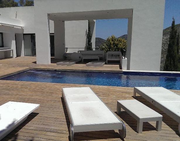 Wall To Wall Window Chic White Stunning Ibiza Villa Sunlounger