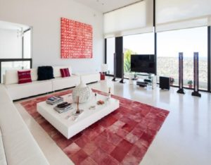 Wall To Wall Window Chic White Stunning Red Wite Ibiza Villa