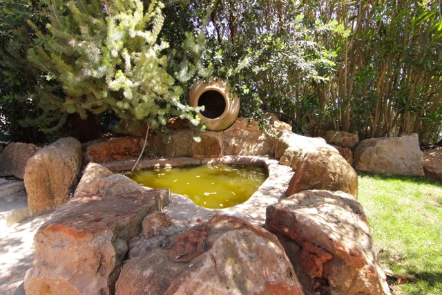 Water Feature Garden Ibiza Villa