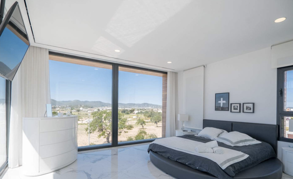 White Bedroom Villa Talamanca Ibiza