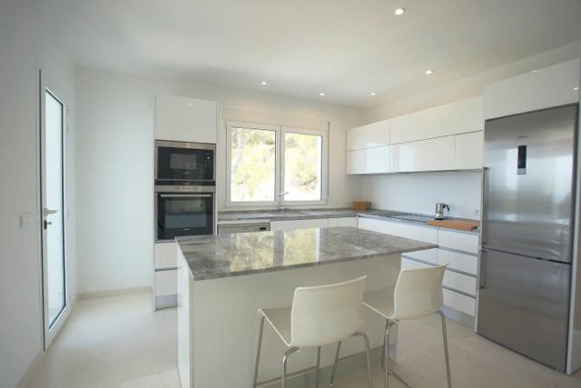 White Chic Villa Kitchen Ibiza