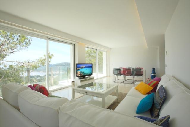 White Contemporary Clean Crisp Tv Light Ibiza Villa