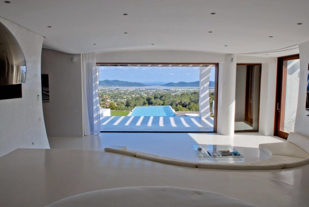 White Modern Chic Sea View Ibiza Villa