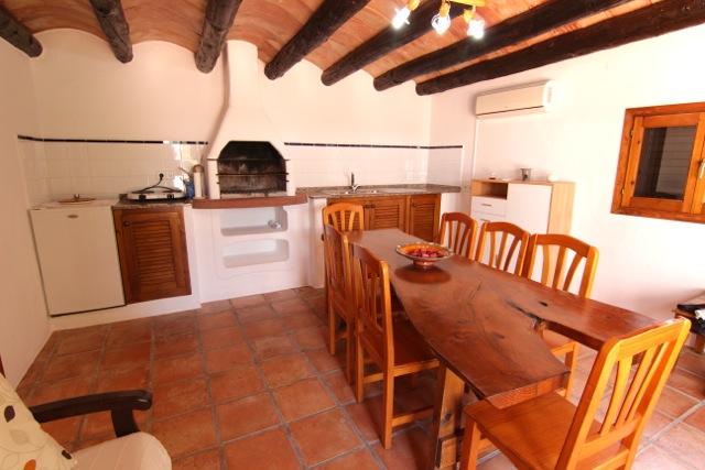 Wooden Beams Ibiza Villa Traditional Dining Room